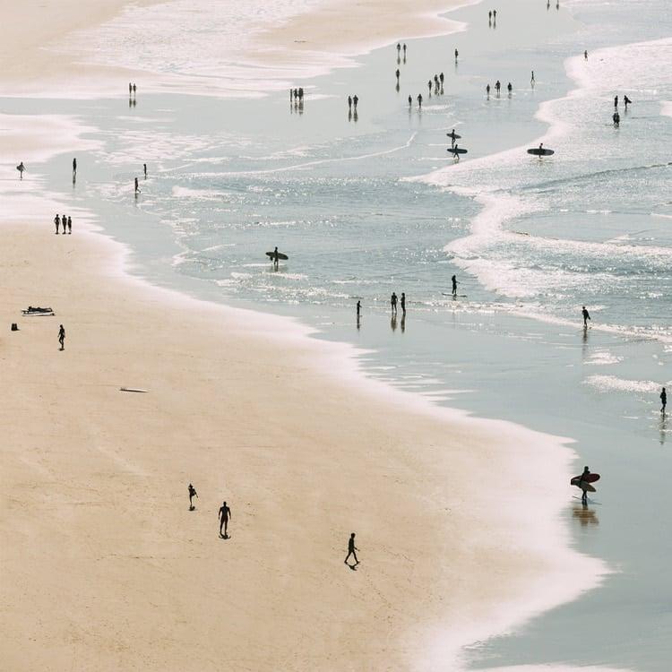 Plage de Biarritz l'été