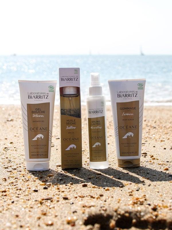 produits oceane sur le sable