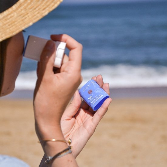 Stick solaire bleu SPF50+ certifié bio - Les Laboratoires de Biarritz x 64