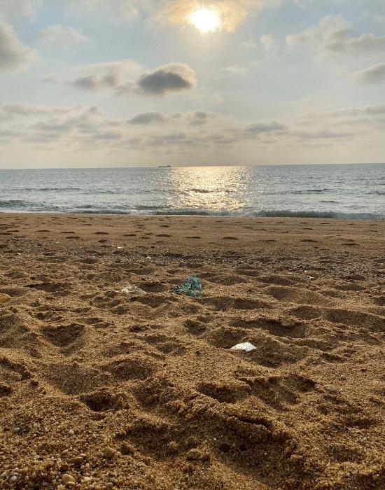 Polluion sur la plage - Engagements des Laboratoires de Biarritz
